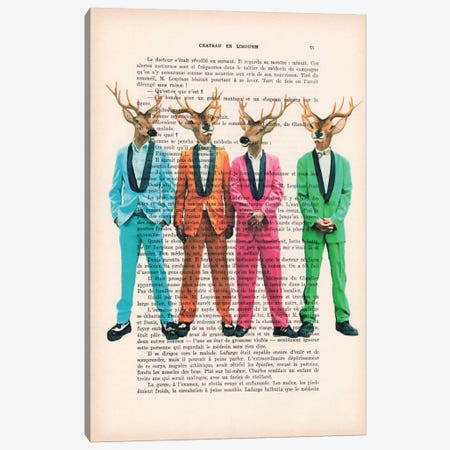 Rock & Roll Deer Canvas Print #COC134} by Coco de paris Canvas Print