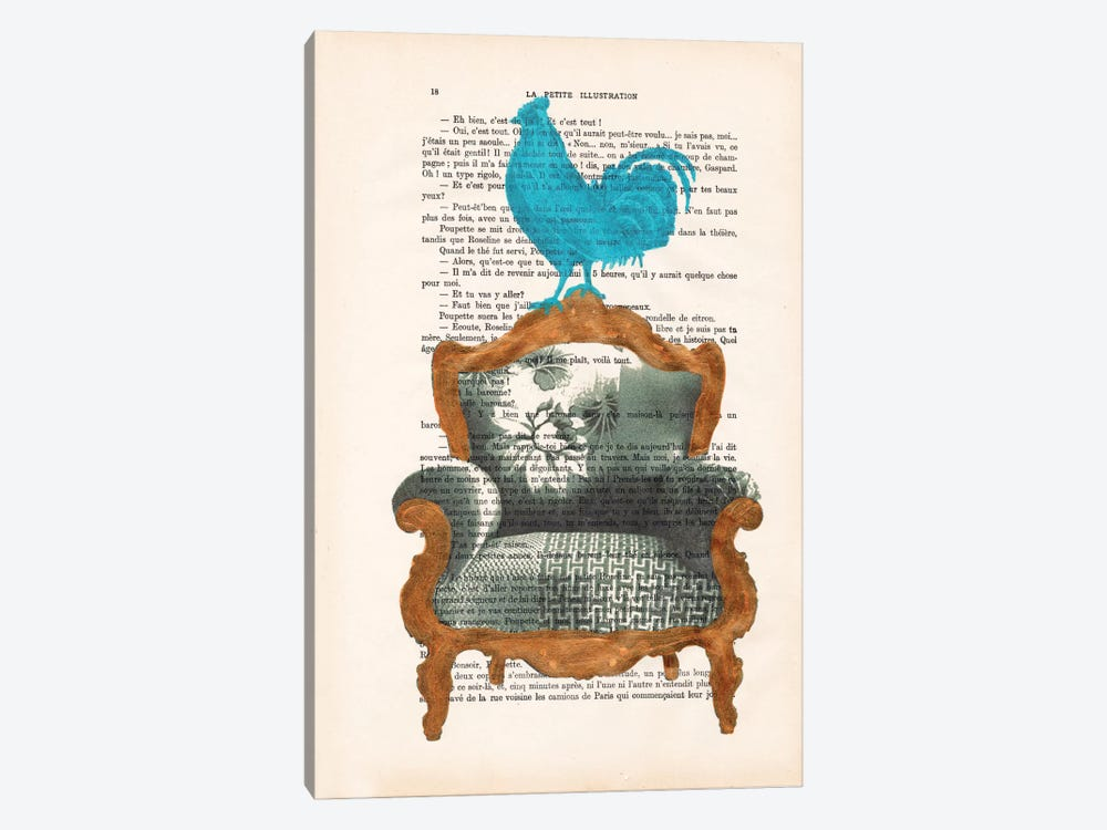 Rooster On Sofa by Coco de Paris 1-piece Canvas Art