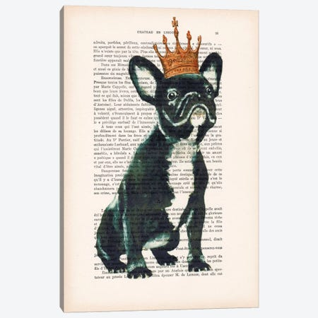 Royal Bulldog Canvas Print #COC136} by Coco de Paris Art Print