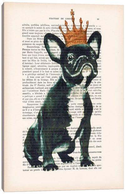 Vintage Paper Series: Royal Bulldog Canvas Print #COC136