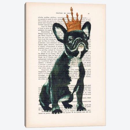 Royal Bulldog Canvas Print #COC136} by Coco de Paris Art Print