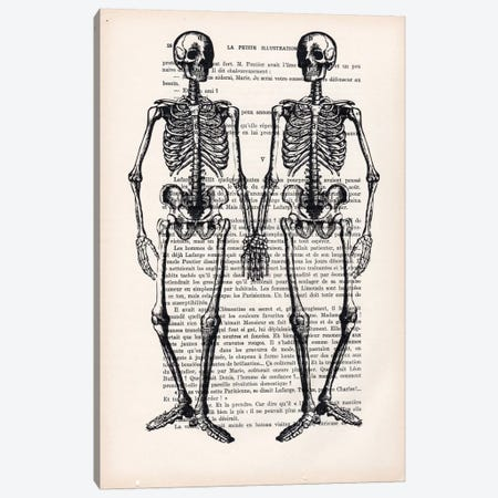 Skeleton Friends Canvas Print #COC138} by Coco de Paris Canvas Wall Art