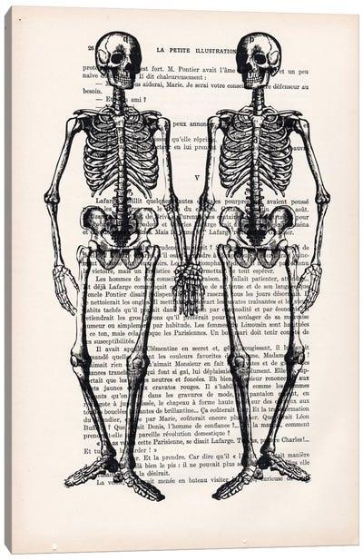 Skeleton Friends Canvas Art Print