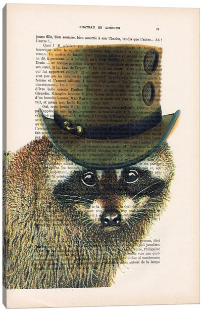 Steampunk Racoon Canvas Art Print