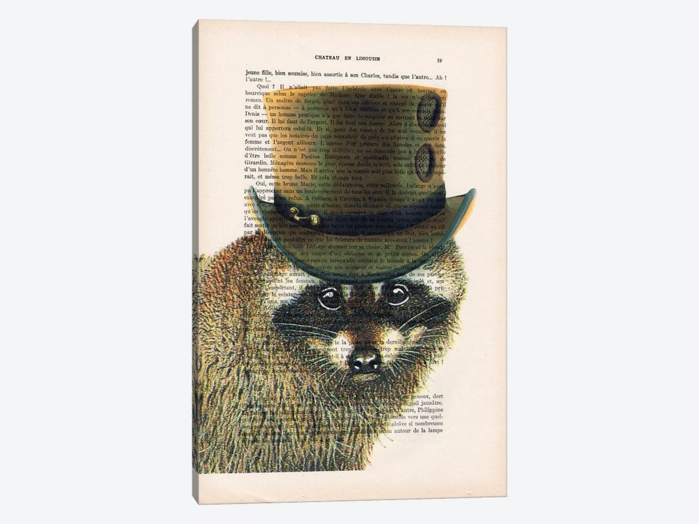 Steampunk Racoon by Coco de Paris 1-piece Canvas Art