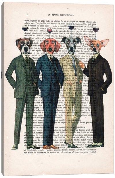 Vintage Paper Series: The Wine Club Canvas Print #COC140
