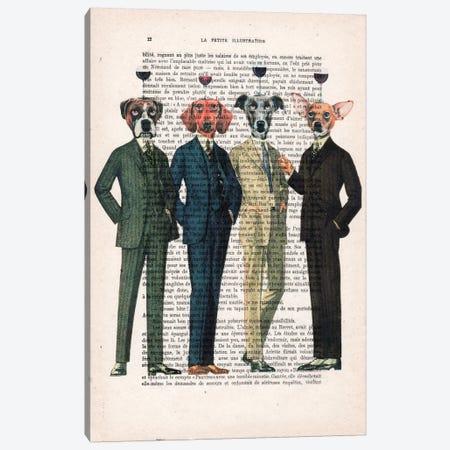 The Wine Club, Text Canvas Print #COC140} by Coco de Paris Canvas Print