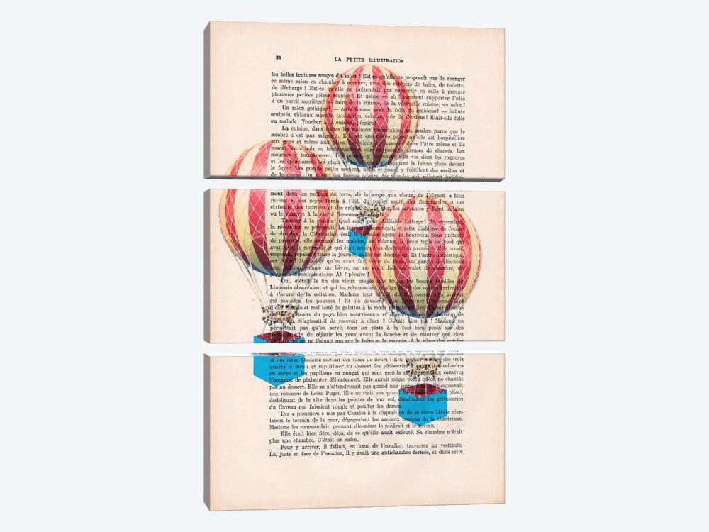 Three Air Balloons by Coco de Paris 3-piece Art Print