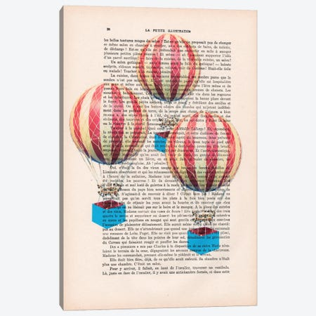 Three Air Balloons Canvas Print #COC141} by Coco de Paris Art Print