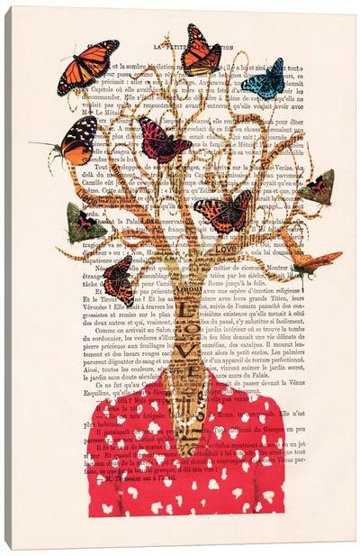 Vintage Paper Series: Tree Lady Canvas Print #COC142