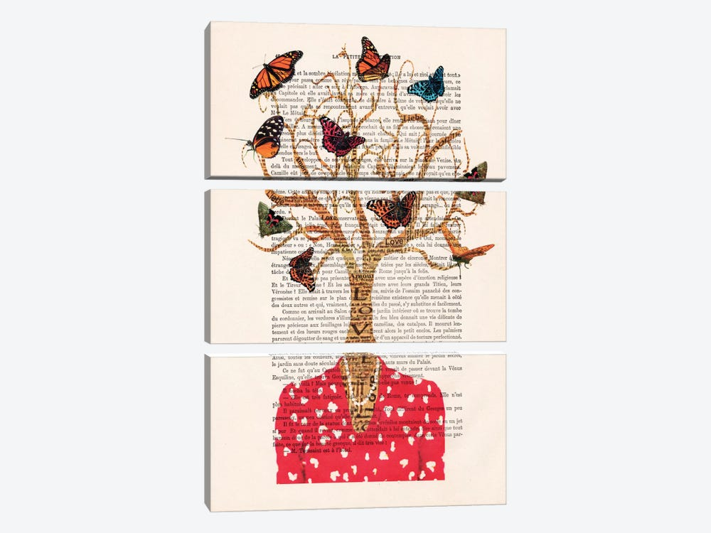 Tree Lady by Coco de Paris 3-piece Canvas Art
