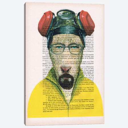 Walter White Goat, Text Canvas Print #COC144} by Coco de paris Canvas Artwork
