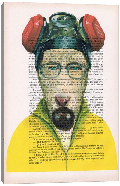 Walter White Goat, Text Canvas Art Print