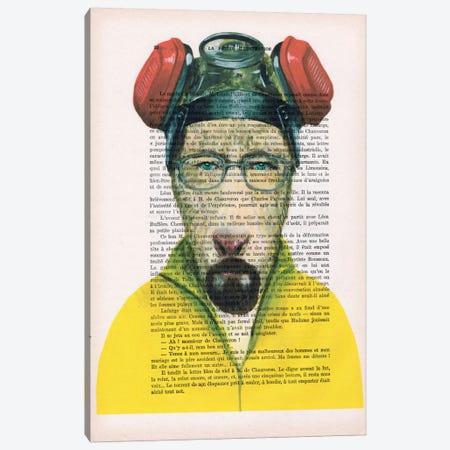 Walter White Goat, Text Canvas Print #COC144} by Coco de Paris Canvas Artwork