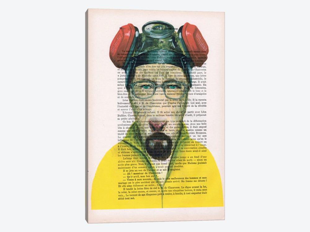 Walter White Goat, Text by Coco de Paris 1-piece Canvas Artwork