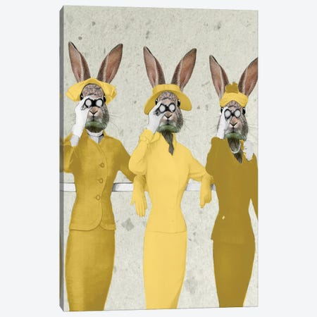 Vintage Rabbits Canvas Print #COC145} by Coco de Paris Canvas Art