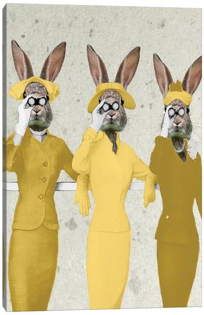 Vintage Rabbits Canvas Art Print