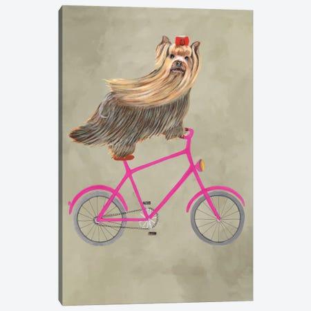 Yorkshire On Bicycle Canvas Print #COC146} by Coco de Paris Canvas Artwork