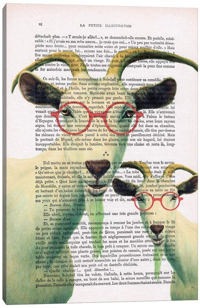 Clever Goats Canvas Art Print