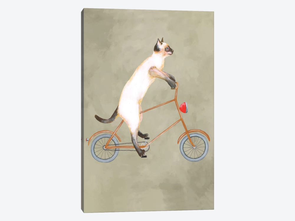 Cat On Bicycle by Coco de Paris 1-piece Art Print