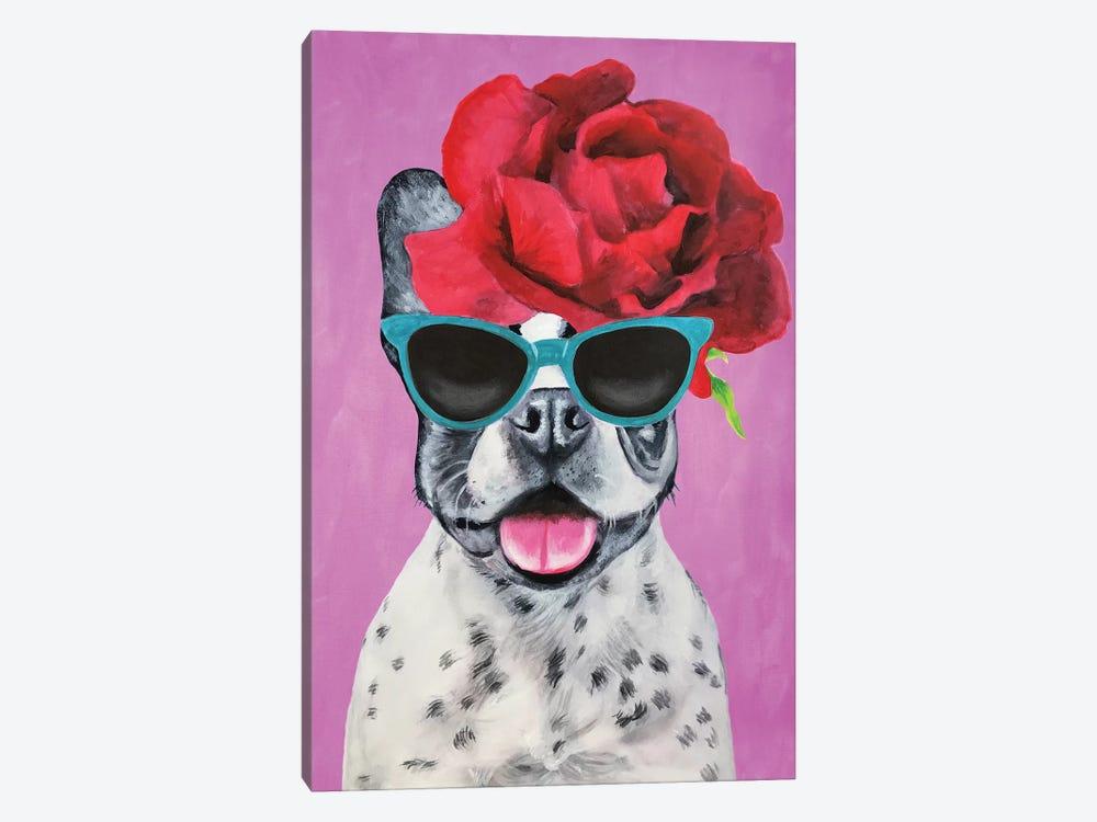 Fashion Bulldog Pink by Coco de Paris 1-piece Canvas Print