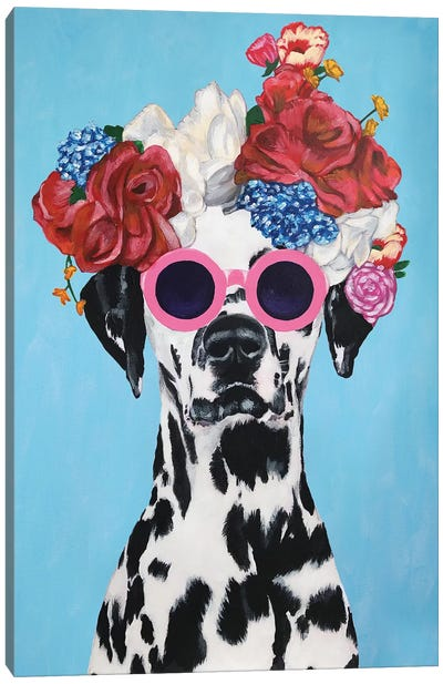 Fashion Dalmatian Blue Canvas Art Print