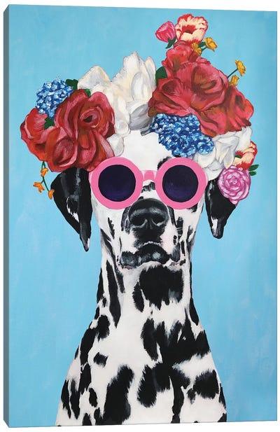 Fashion Dalmatian Blue Canvas Art Print