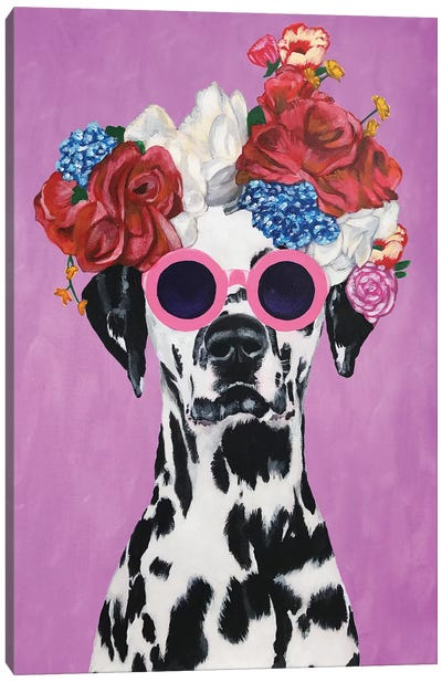 Fashion Dalmatian Pink Canvas Art Print