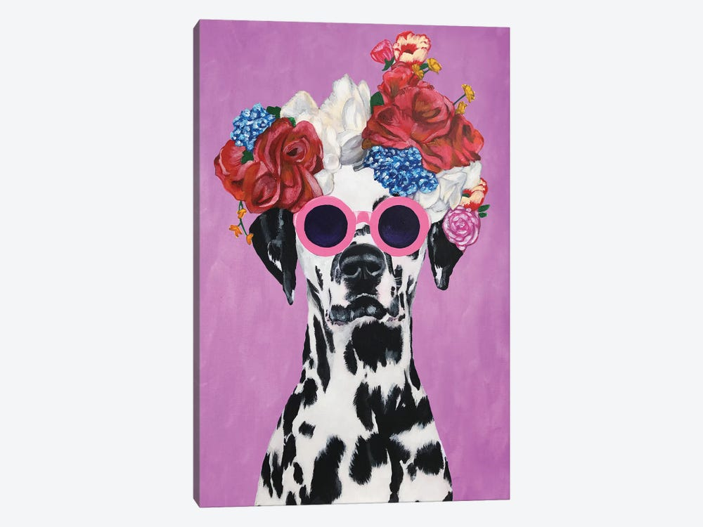 Fashion Dalmatian Pink by Coco de Paris 1-piece Canvas Artwork