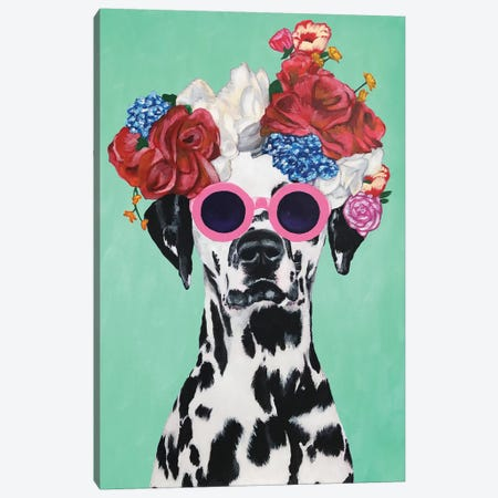Fashion Dalmatian Turquoise Canvas Print #COC160} by Coco de paris Canvas Print