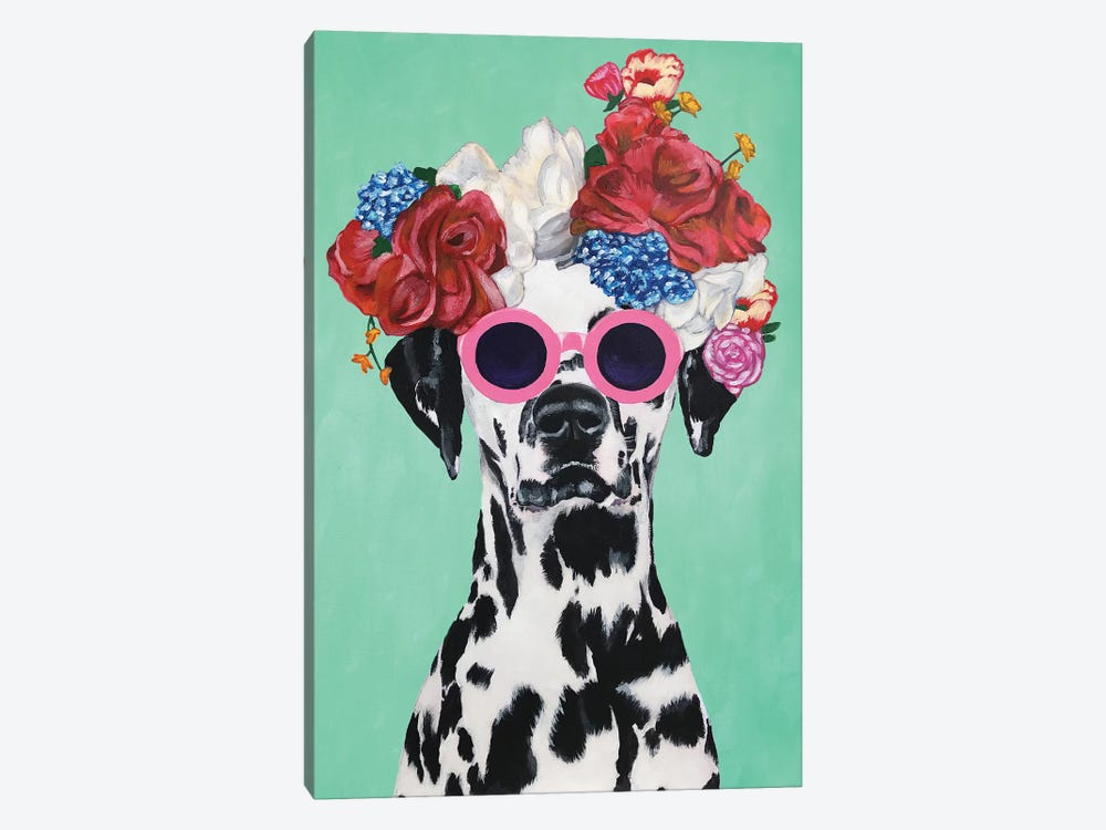 Fashion Dalmatian Turquoise by Coco de paris 1-piece Canvas Art
