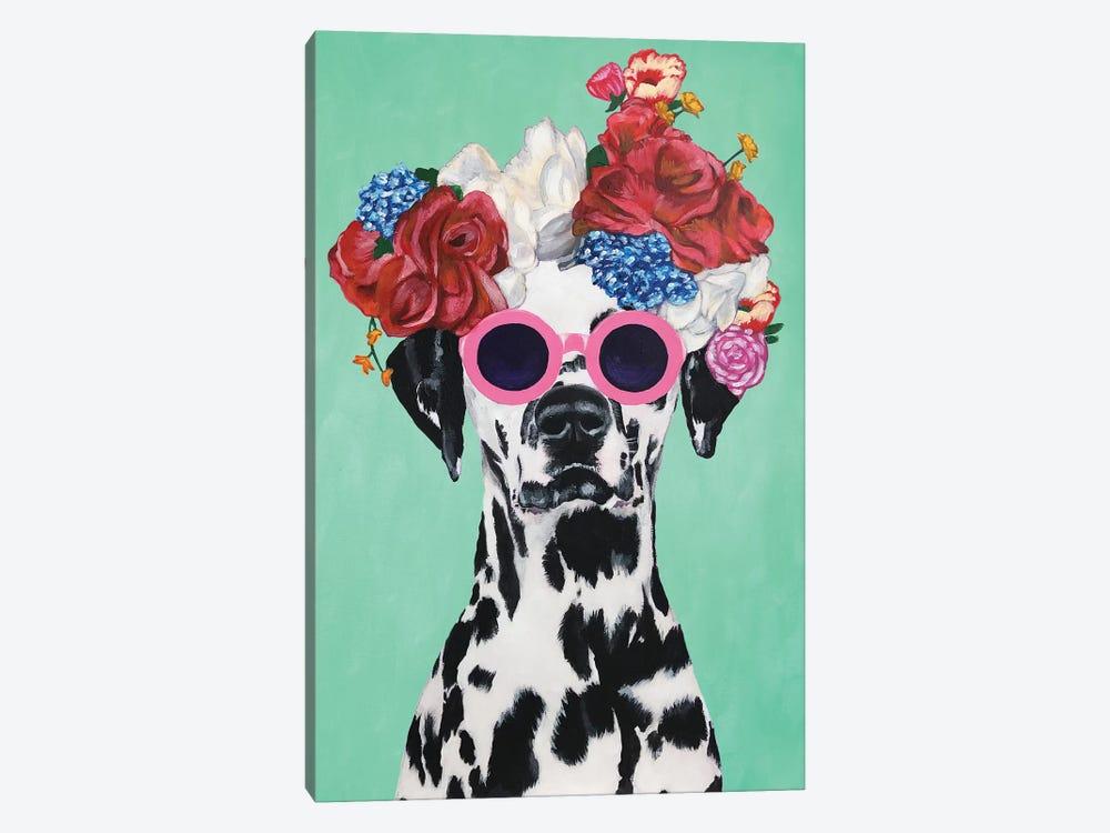 Fashion Dalmatian Turquoise by Coco de Paris 1-piece Canvas Art