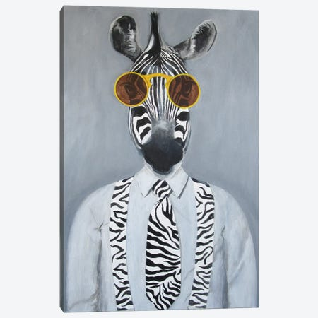 Fashion Zebra Canvas Print #COC164} by Coco de Paris Canvas Artwork