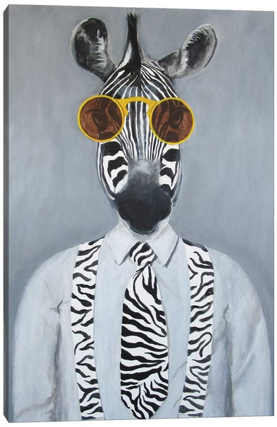 Fashion Zebra Canvas Art Print