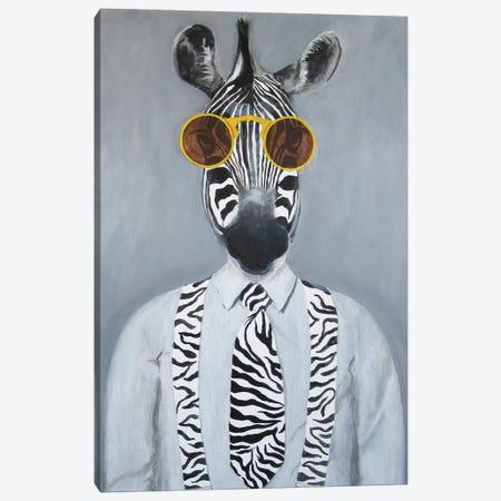 Fashion Zebra Canvas Print #COC164} by Coco de Paris Canvas Artwork