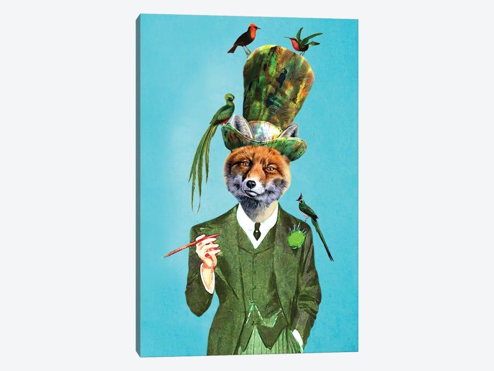 Fox With Hat And Birds by Coco de Paris 1-piece Canvas Art Print