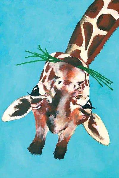 Giraffe Upside Down Canvas Wall Art By Coco De Paris Icanvas
