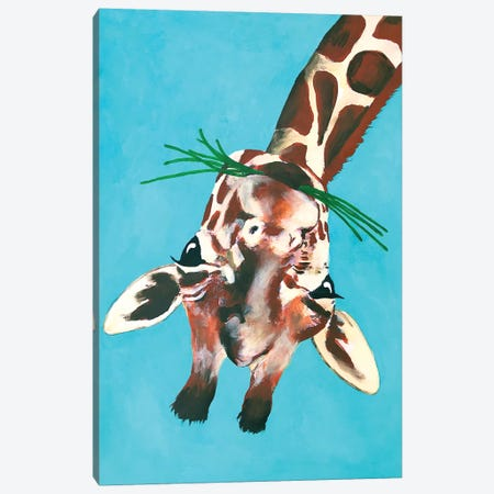 Giraffe Upside Down Canvas Print #COC166} by Coco de Paris Canvas Artwork