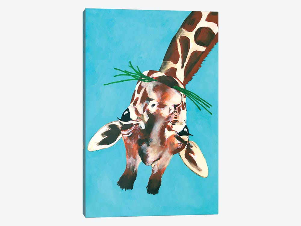 Giraffe Upside Down by Coco de paris 1-piece Canvas Artwork