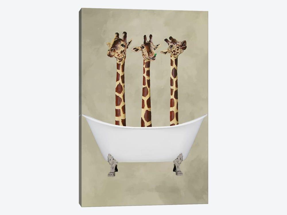 Giraffes In Bathtub by Coco de Paris 1-piece Canvas Print