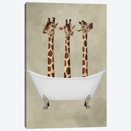 Giraffes In Bathtub Canvas Print #COC167} by Coco de Paris Canvas Wall Art