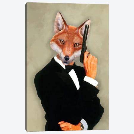 James Bond Fox II Canvas Print #COC170} by Coco de Paris Canvas Artwork