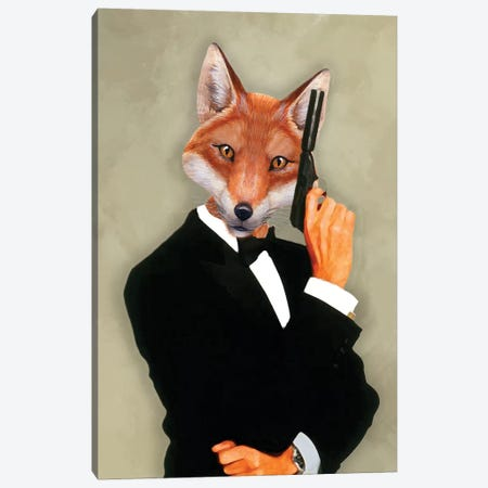 James Bond Fox II Canvas Print #COC170} by Coco de paris Canvas Artwork