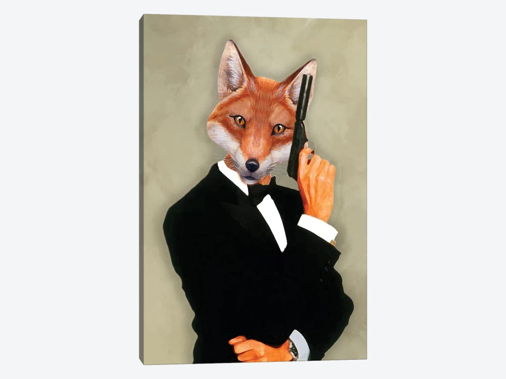 James Bond Fox II by Coco de paris 1-piece Canvas Art Print