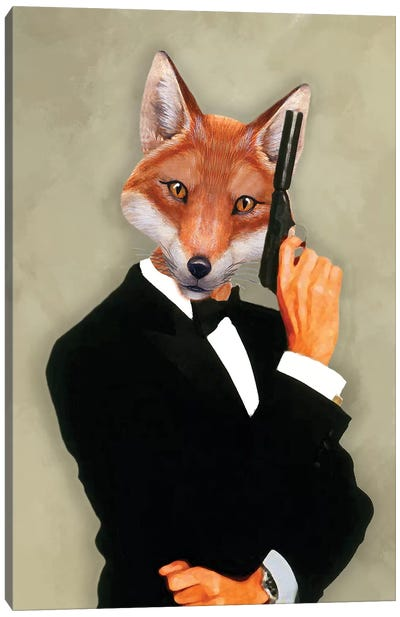 James Bond Fox II Canvas Art Print