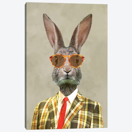 Rabbit Vintage Man I Canvas Print #COC174} by Coco de Paris Canvas Art Print