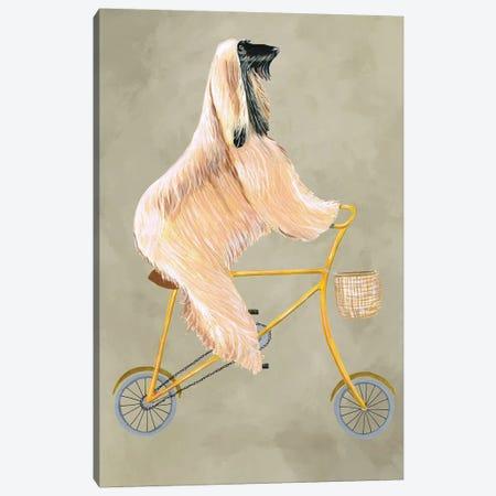 Afghan On Bicycle Canvas Print #COC176} by Coco de Paris Canvas Art Print