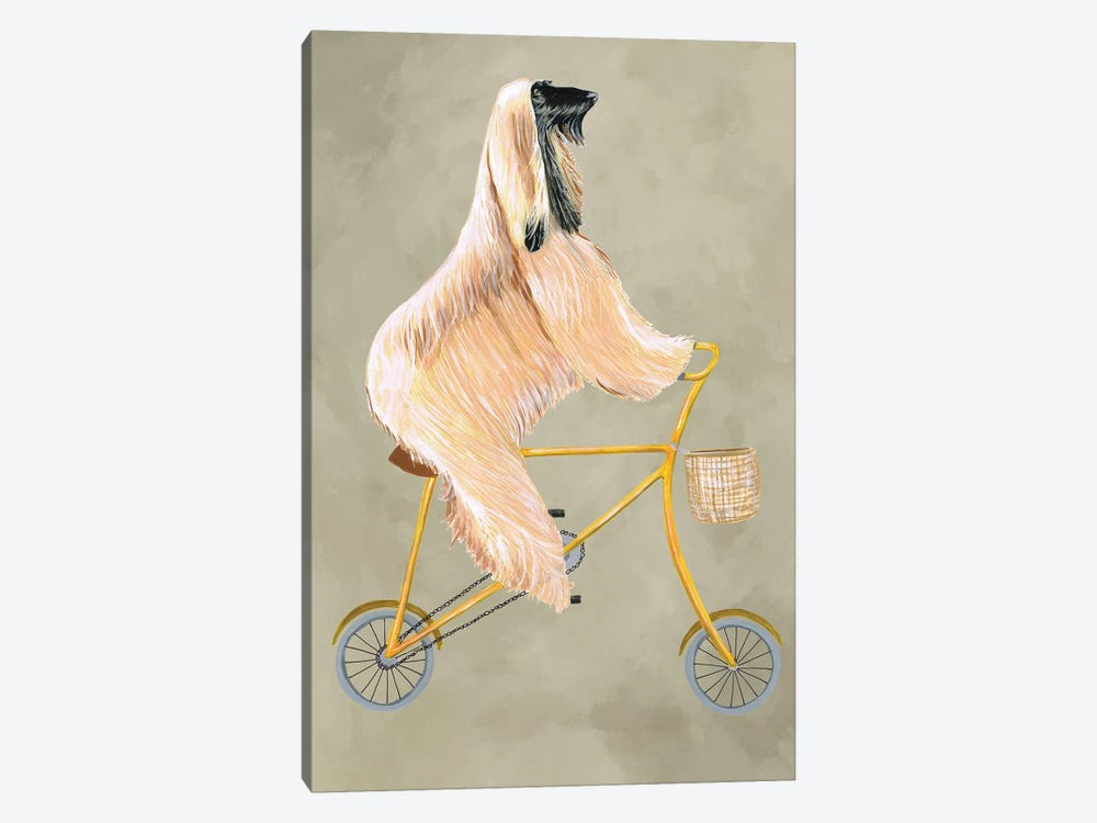 Afghan On Bicycle by Coco de Paris 1-piece Art Print