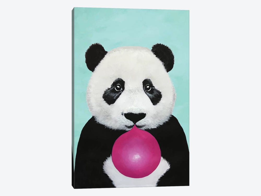 Bubblegum Panda, Turquoise by Coco de Paris 1-piece Canvas Art