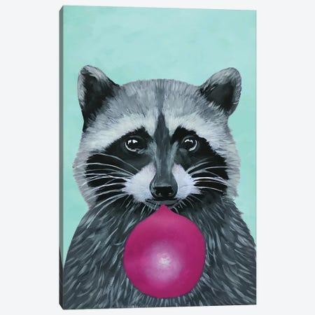 Bubblegum Raccoon, Turquoise Canvas Print #COC181} by Coco de Paris Canvas Print